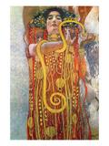 Hygeia Affiche par Gustav Klimt
