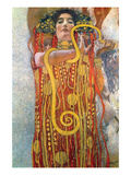 Hygeia Prints by Gustav Klimt