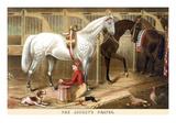The Jockey's Prayer Print by Rae Smith