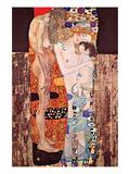 Drei Alter der Frau Giclée-Premiumdruck von Gustav Klimt
