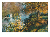 The Studio Boat Posters by Claude Monet
