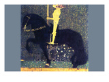 The Life of a Struggle (The Golden Knights) Giclée-Premiumdruck von Gustav Klimt