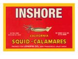 Inshore Brand Squid - Calamares Poster von Paris Pierce