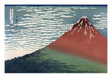 Red Fuji or South Wind, Clear Sky Láminas por Katsushika Hokusai