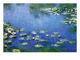 Wasserlilien Kunstdruck von Claude Monet