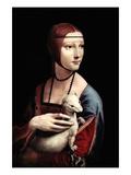 Portrait of a Lady with an Ermine Plakater av  Leonardo da Vinci