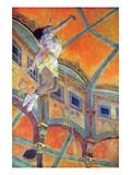 Miss Lala in Circus Fernando Posters tekijänä Edgar Degas
