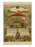 Symbols - Masonic Diploma Prints by  Strobridge & Gerlach