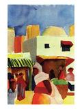 Market in Algiers Poster von Auguste Macke