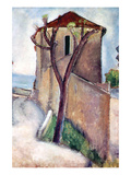 Tree and House Affiches par Amedeo Modigliani