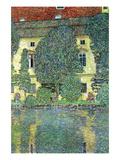 Castle at the Attersee Giclée-Premiumdruck von Gustav Klimt