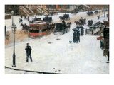 Fifth Avenue in Winter Posters by Childe Hassam
