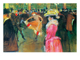 Ball in the Moulin Rouge Plakater av Henri de Toulouse-Lautrec