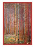 Tannenwald Giclée-Premiumdruck von Gustav Klimt