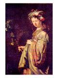 Flora (Portrait of Saskia as Flora) Pôsters por  Rembrandt van Rijn