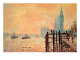 The Thames and Westminster Pósters por Claude Monet