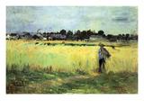 Wheat Field Print by Berthe Morisot