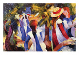 Girls in the Open by August Plakat af Auguste Macke