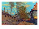 The Stream of Robec Pôsteres por Claude Monet