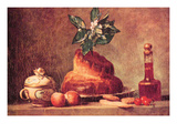 Still Life with Brioche Art by Jean-Baptiste Simeon Chardin