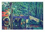 Bridge in the Forest Affiches par Paul Cézanne