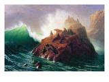 Seal Rock, California Poster von Albert Bierstadt
