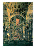 Interior of St. Marks Church, Venice Posters por  Canaletto