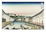 Nihonbashi Bridge in Edo Arte por Katsushika Hokusai