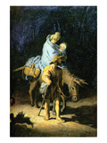 Flight into Egypt Art by  Rembrandt van Rijn