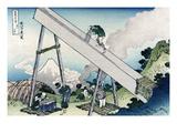 Fuji from a Sawyer's View Pôsters por Katsushika Hokusai
