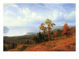 View of the Hudson River Valley Posters par Albert Bierstadt