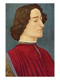Portrait of Giuliano De Medici Poster par Sandro Botticelli