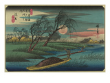 Sampans on the Ohta River Print by Ando Hiroshige