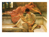 A Favorite Poet Prints by Sir Lawrence Alma-Tadema
