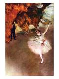 l'Etoile ou Danseuse sur scène Affiches par Edgar Degas