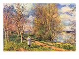 Les Petits Prés Au Printemps Prints by Alfred Sisley