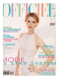 L'Officiel, May 1997 - Claire Danes en Chanel Boutique, Robe en Panne de Velours Blanche Irisée Kunstdrucke von Firooz Zahedi