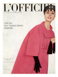 L'Officiel, October 1959 - Ensemble du Soir de Givenchy Julisteet tekijänä Philippe Pottier
