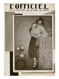 L'Officiel, July 1927 - Olga Puffkine Taide tekijänä Madame D'Ora & Jean Dunand