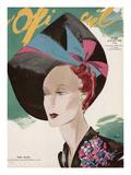 L'Officiel, July 1938 - Rose Valois Plakater af  Lbenigni