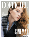 L'Officiel, May 2010 - Léa Seydoux Porte une Chemise en Soie, Ralph Lauren Collection Poster van Paul Wetherell