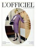 L'Officiel, October 1957 - Robe de Balenciaga Julisteet tekijänä Philippe Pottier