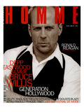 L'Optimum, May 1997 - Bruce Willis Est Habillé Par Donna Karan Poster par Peter Lindbergh