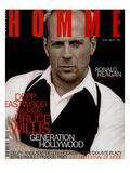 L'Optimum, May 1997 - Bruce Willis Est Habillé Par Donna Karan Prints by Peter Lindbergh