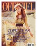 L'Officiel, May 2008 - Christina Ricci Porte une Robe en Organza Jaune Imprimé Abstrait, Prada Posters tekijänä Guy Aroch