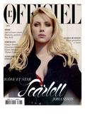 L'Officiel 2005 - Scarlett Johansson Porte un Trench en Soie Noir Pailleté Dior par John Galliano Print van David Ferma