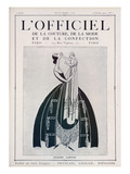 L'Officiel, February 15 1922 - Jeanne Lanvin (Illustration) Premium Giclee-trykk av  Delphi