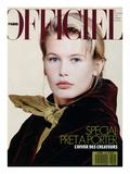 L'Officiel, August 1989 - Claudia Porte un Ensemble de Romeo Gigli Posters af Pietro Privitera