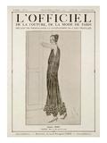L'Officiel, October-November 1923 - Vertige Robe en Tulle Perlé de Cristal Posters av  Jenny