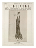 L'Officiel, October-November 1923 - Vertige Robe en Tulle Perlé de Cristal Affiches van  Jenny